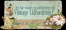 I won at Vintage udfordring.....ya-hooooo!