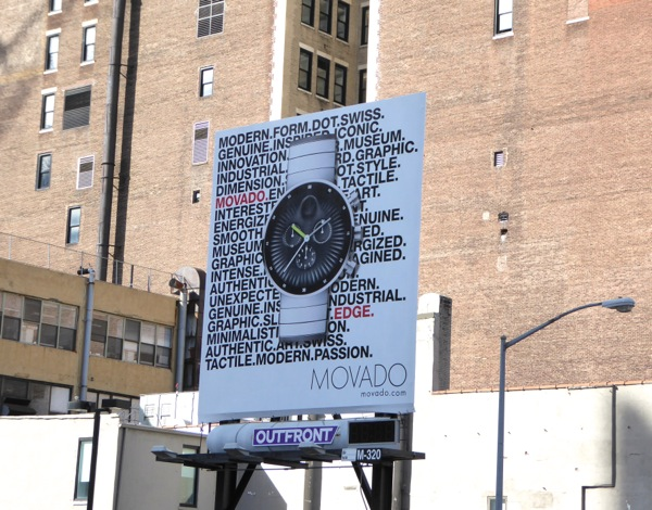 Movado watch billboard