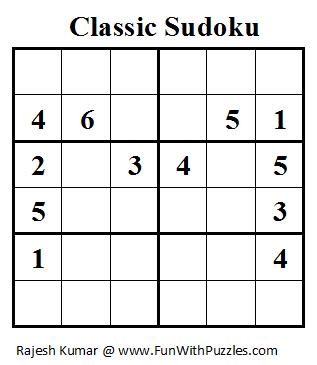 Classic Sudoku (Mini Sudoku Series #12)