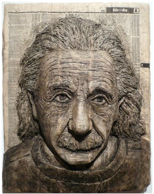 02-Albert-Einstein-Phone-Books-Sculpture-Carving-Cuban-Artist-Alex-Queral-WWW-Designstack-Co