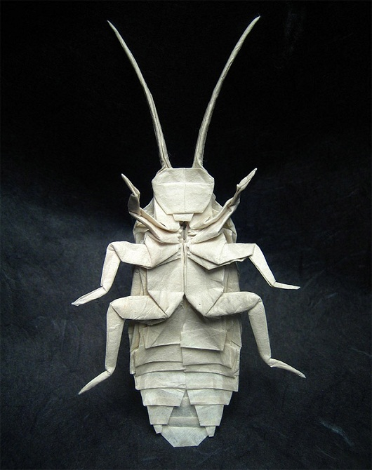 Impresionantes insectos de origami