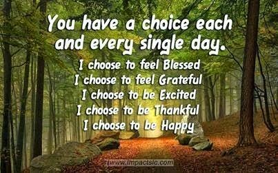 """You have a choice each and every single day. I choose to feel Blessed. I choose to feel Grateful. I choose to be Excited. I choose to be Thankful. I choose to be Happy."" ~ Unknown; Picture of a path in the forest. www.impactsic.com"
