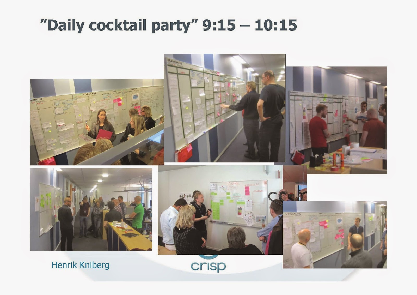 Lean from the Trenches picture of Scrum of Scrums looking wall