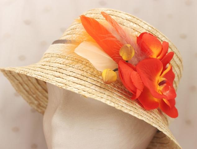Colección Orquídea - Canotier Orquídea naranja