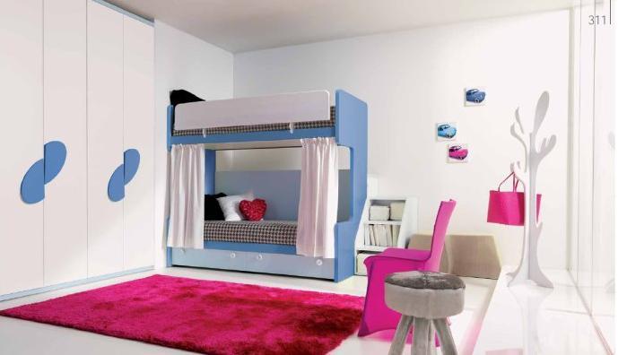 Dormitorios para dos ni os con camas litera dormitorios - Literas ninos pequenos ...