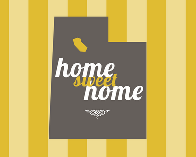 home sweet home poster utah
