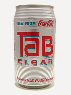 Tab Clear, 90s drinks, Coca Cola, clear cola, The 90s, 1990s, Funny, Pictures than make you feel old,