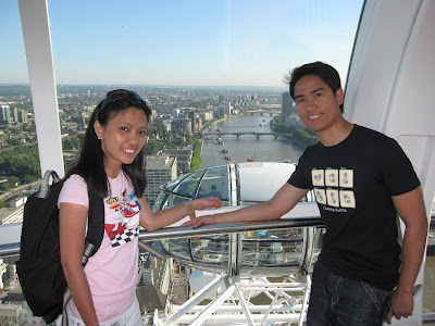 Draide and Leslie Inside London Eye