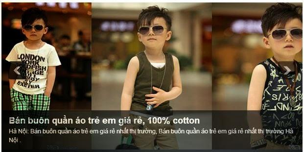 quần áo trẻ em giá sỉ .