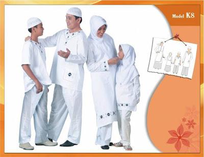KIRGYZ SARIMBIT Koleksi Busana Muslim Keluarga Putih
