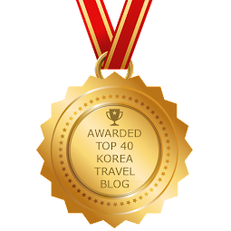Awarded Top 40 Korea travel blog!