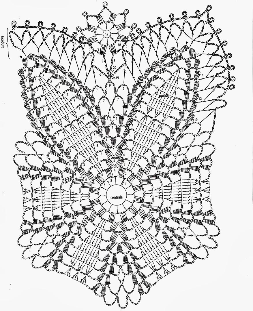 Uncinetto e crochet centrotavola biancofiore all - Centro tavolo all uncinetto ...