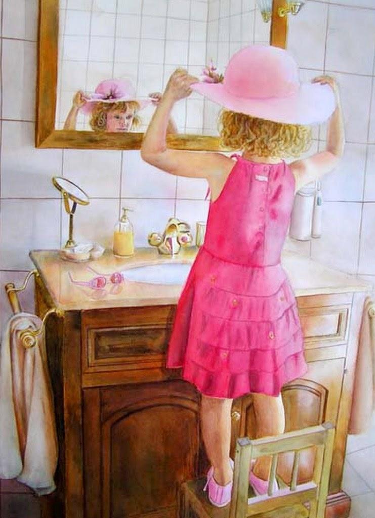 retratos-de-niñas-pintados-con-acuarela