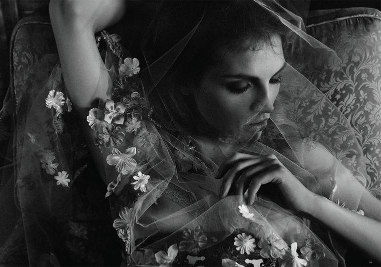 via fashioned by love   Karlina Caune in Black No 19 2013 (photography: Michael Schwartz, styling: Aeri Yun)