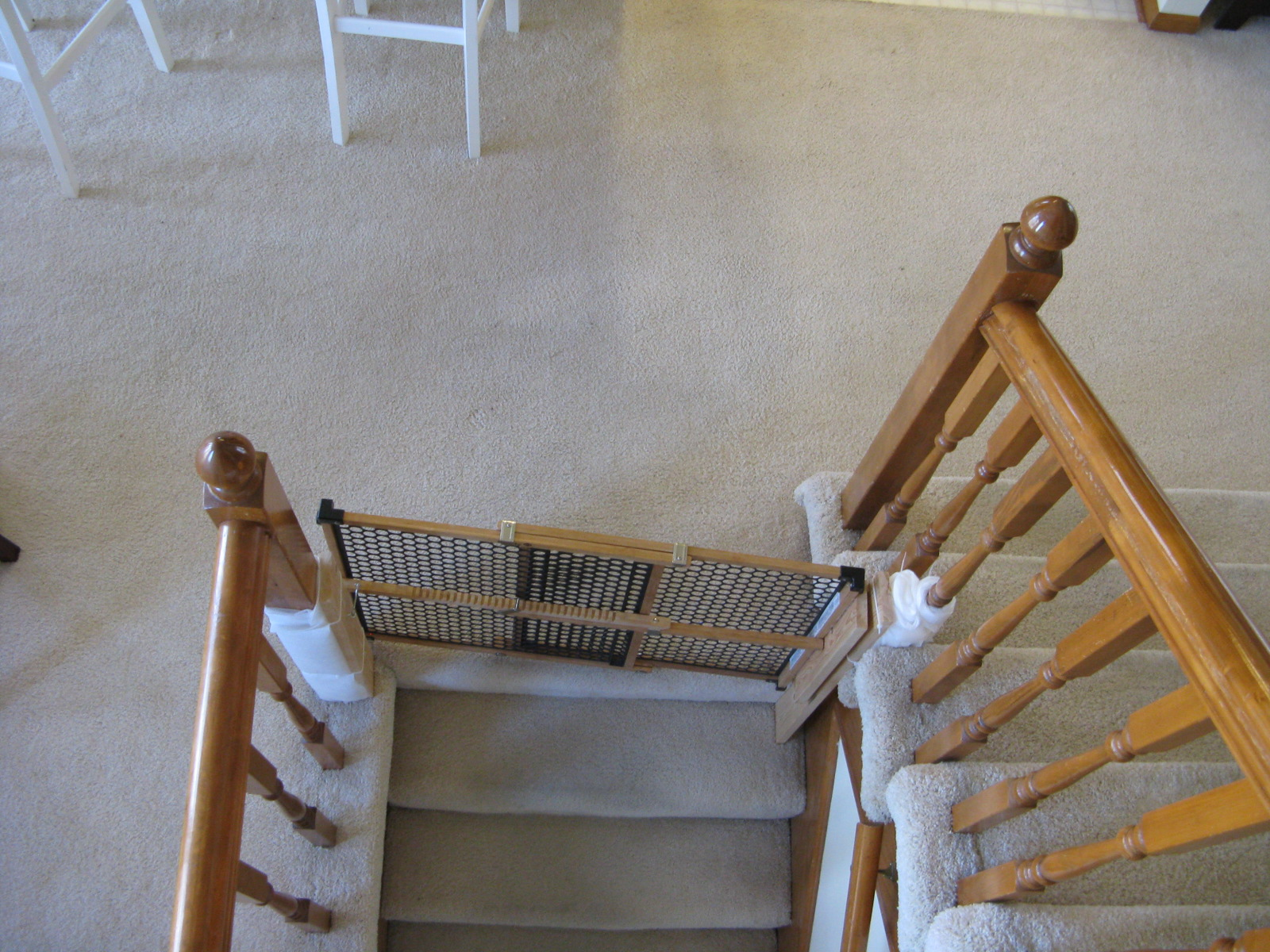 Baby Gate Solution For Unusual Stairwell