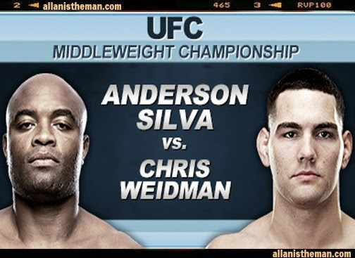 UFC 168: Silva vs Weidman 2 Full Fight Replay Video