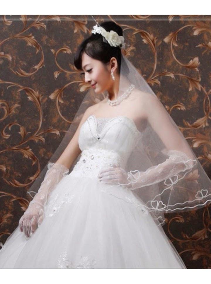 Velo para Vestido de Novia de Capa Simple con Mariposas Bordadas