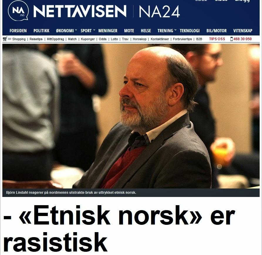ikke etnisk norsk