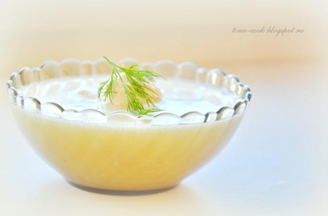 Сливочный суп-пюре с фрикадельками