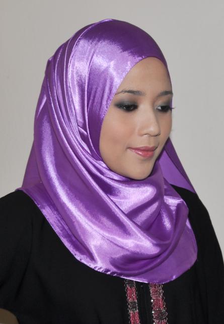 Tudung Shawl Hijab: Satin Sutera RM19