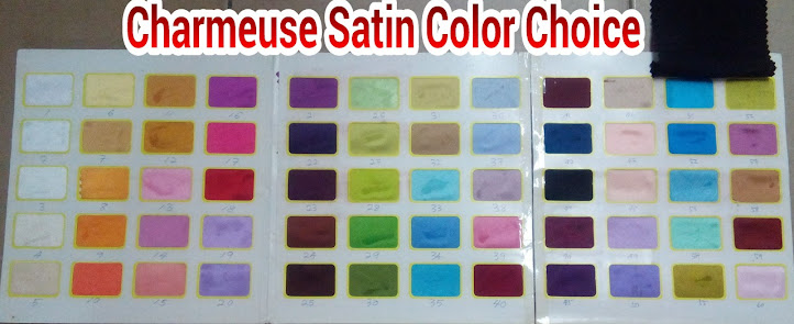 PILIHAN COLOR KAIN PLAIN SATIN CHARMEUSE, BIDANG 45