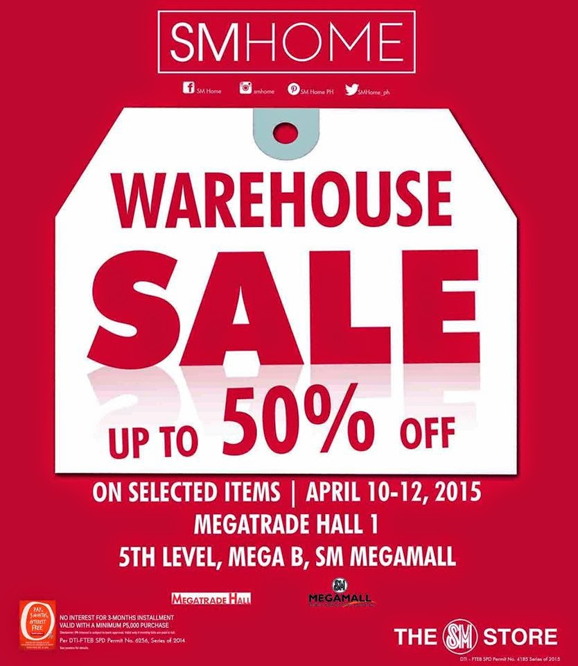 manila shopper sm home warehouse sale at sm megatrade april 2015