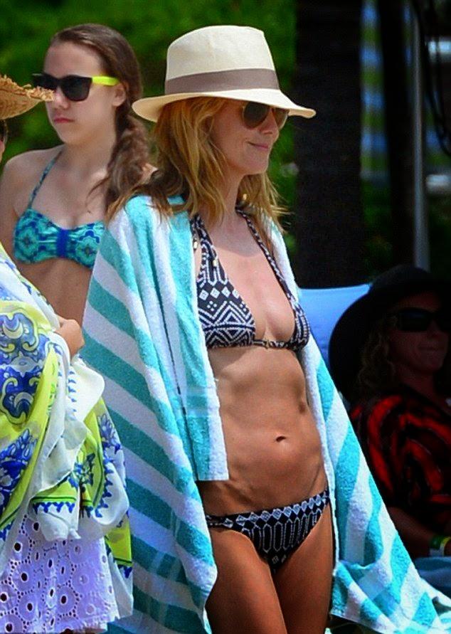 Heidi Klum Is Pretty In Bikini In The Bahamas on Wednesday, March 26, 2014