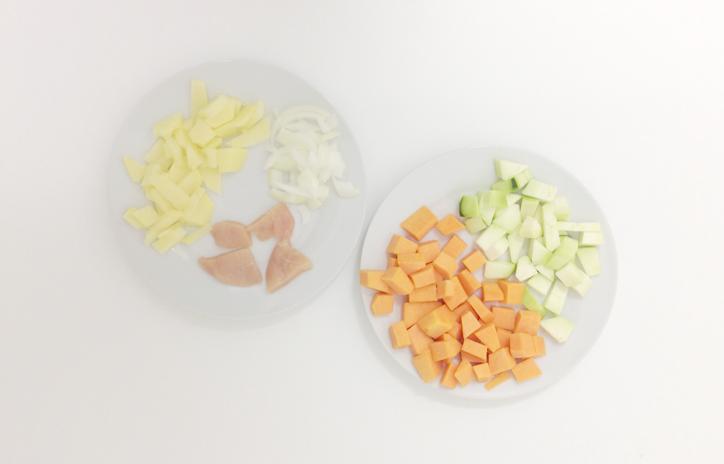 Papilla de calabacín y calabaza - Ingredientes - hansel y Greta