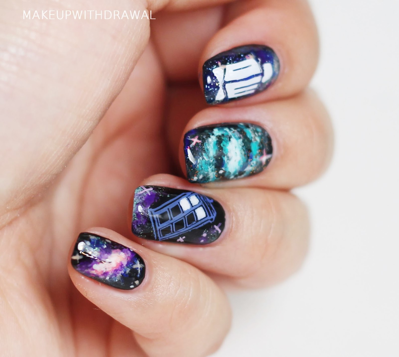 Tardis in space nails makeup withdrawal tardis in space nails prinsesfo Choice Image