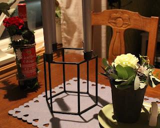 nejlika, blomma, blomsterarrangemang, ljusstake, adventsljusstake