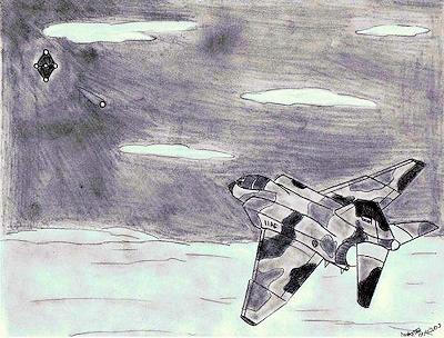 Tehran UFO Event - 1976 (Artist Rendering)