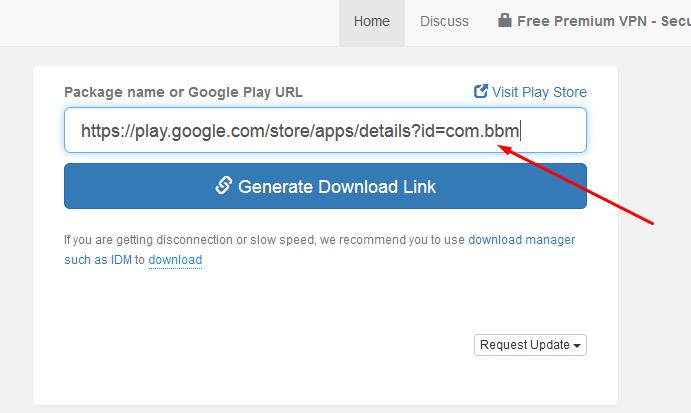 tempelkan URL dan klik Generate