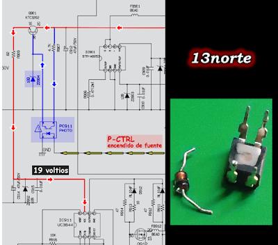 Encendido fuente MCT806