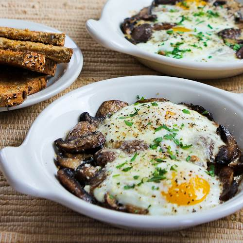 ... Baked Eggs with Mushrooms and Parmesan [#SouthBeachDiet; Kalyn's