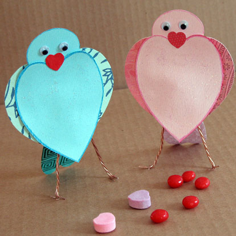 Craft Ideas Supplies on Love Birds Heart V Day Valentines Craft Craft Preschool Kids Childen