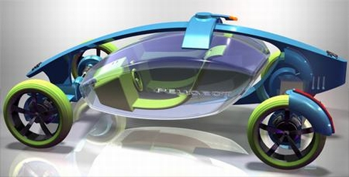 Peugeot Coaster, a Futuristic Car that Puts Safety First Seen On www.coolpicturegallery.us