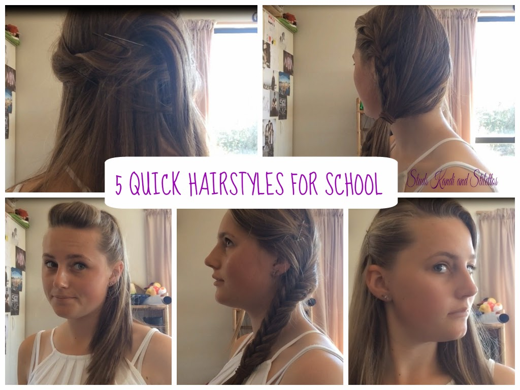 Studs, Kandi and Stilettos: 5 Quick Hairstyles For School