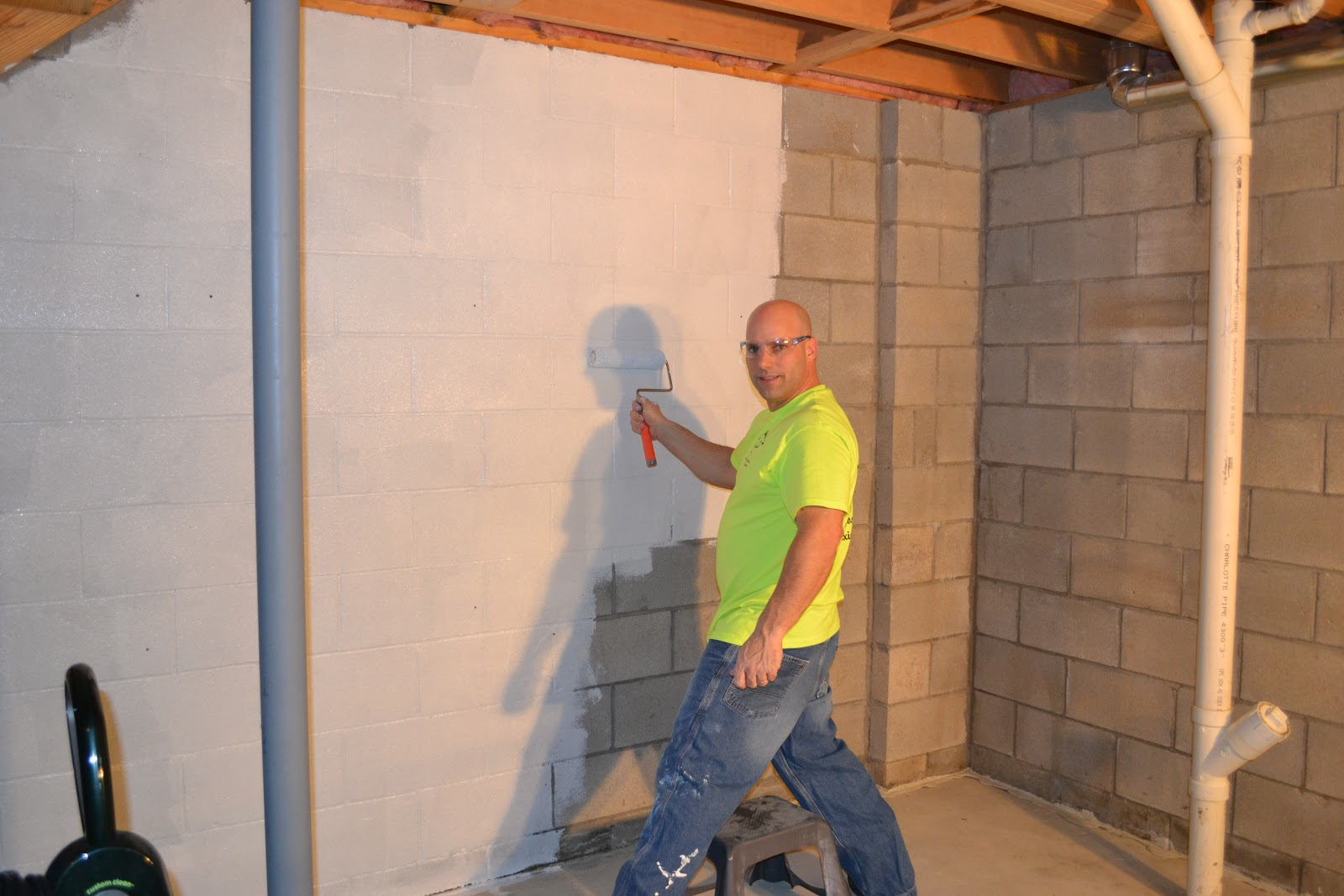 Basement Sealing With Hydro-Seal 75 1st Coat & BASEMENT SEALERMAN