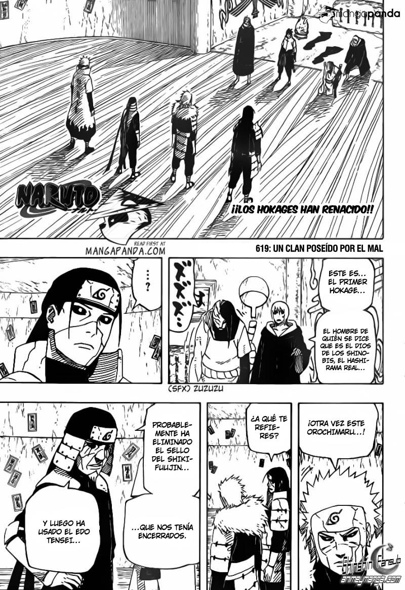 Naruto manga 619 online cremoso