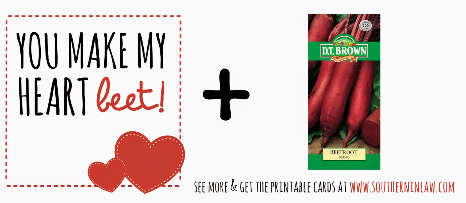 You make my heart beet - Healthy Valentines Gift Idea - Punny Valentines Gift Ideas Free Printable Valentines Cards