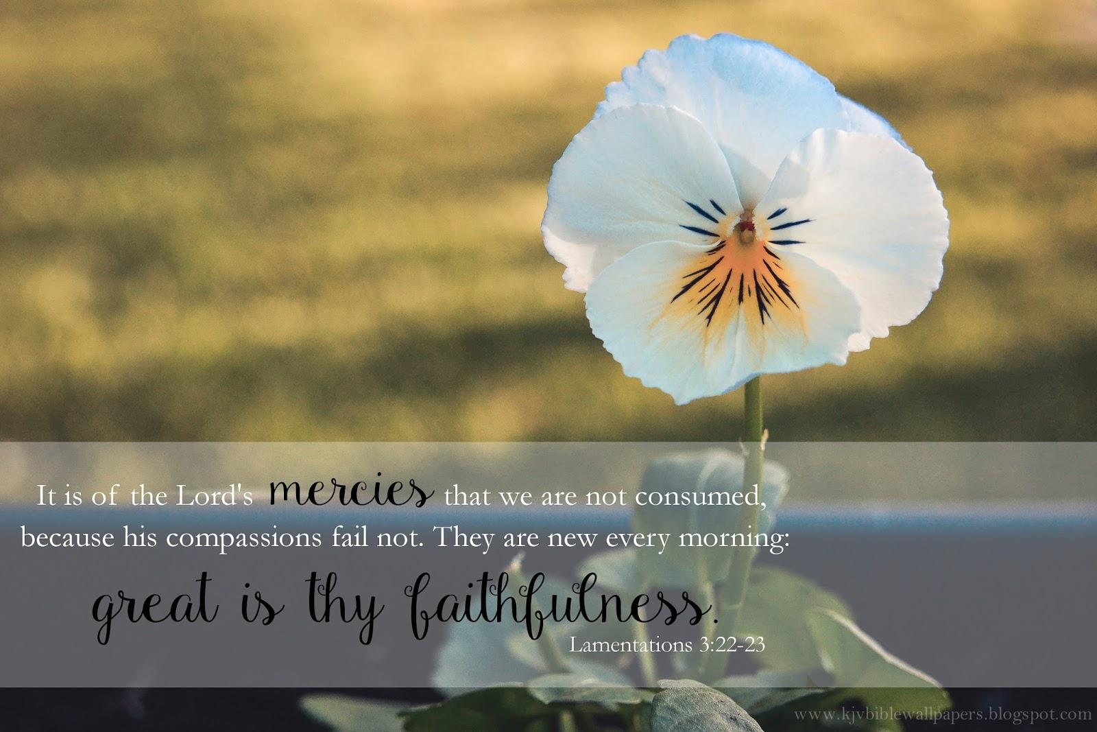 KJV Bible Wallpapers: Great is Thy Faithfulness ...