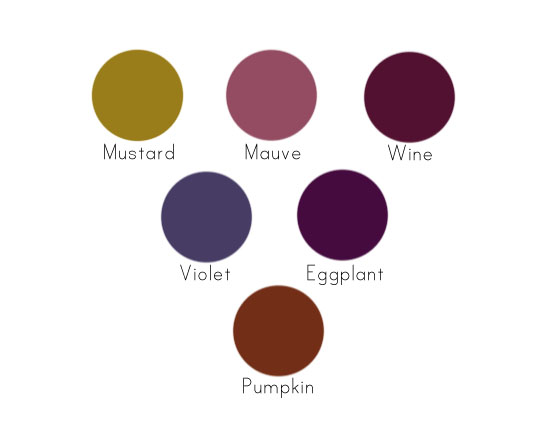 Polkadots Parties Autumn Buttercream Color Chart