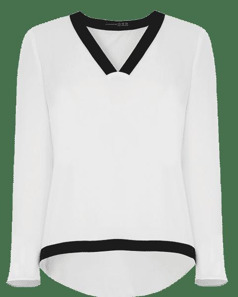 Primark online: jersey blanco con borde en negro