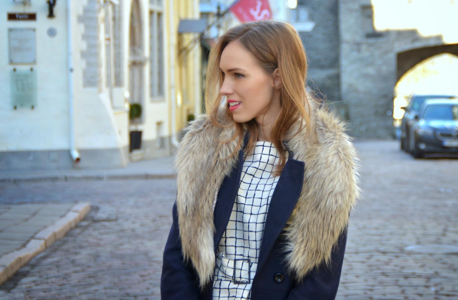 hm-faux-fur-collar-asos-wool-coat-zara-check-print-top kristjaana mere
