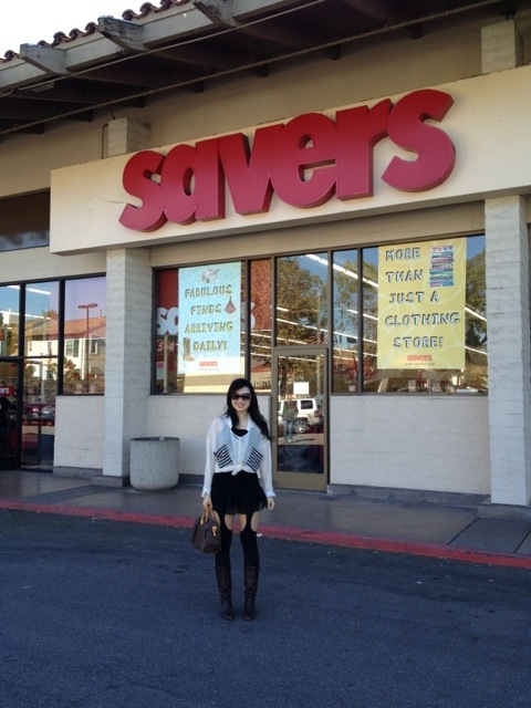 savers, thrift shopping, street style, necessary clothing tights, lv speedy 25
