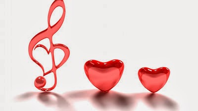 Sound Love Wallpapers With Two Cute Red Jelly Crystal Hearts