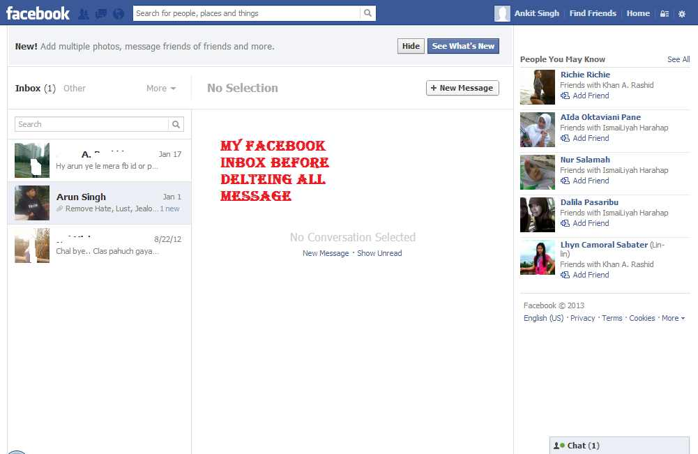 How to Delete All Facebook Messages - 45.3KB