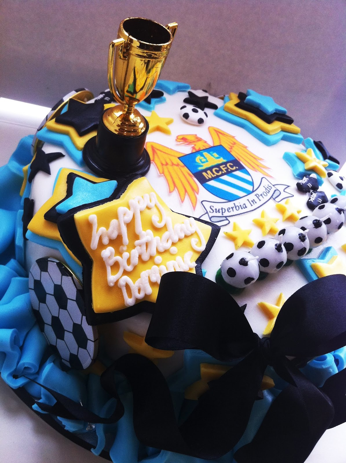Iced Out Company Cakes!: Manchester City Cake...