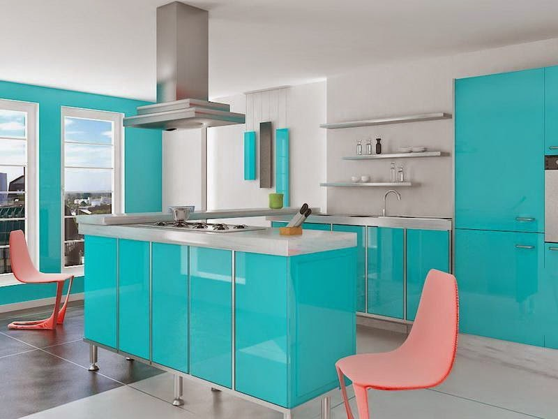 Light Blue Kitchen Design Online