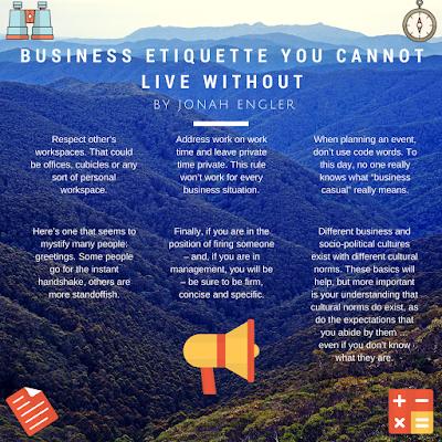 Jonah Engler - Business Etiquette Infographic